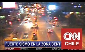 Así se sintió en vivo el terremoto en CNN Chile