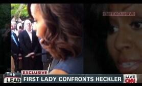 CNN exclusive: Michelle Obama confronts heckler
