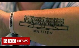 Why Brazilian people are getting a tattoo of a museum - BBC News