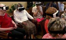 Senior community explores the world with virtual reality