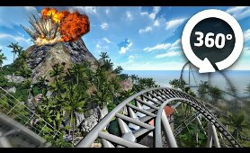 VOLCANIC Roller Coaster VR 360 Video | Virtual Reality Experience
