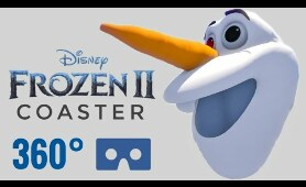 Disney Frozen 2 Roller Coaster 360° video Virtual Reality VR PSVR