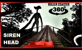 SIREN HEAD 360 Roller Coaster VR  Night Ride 4K