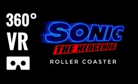3D 8K 360 Video Sonic The Hedgehog Movie 360° VR Roller Coaster VR Experience Simulator