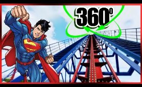 360 Video of Superman VR Roller Coaster Ride 4K