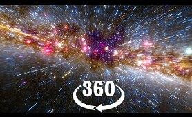VR 360 Space Journey out of our solar system at faster than light speed video for virtual reality