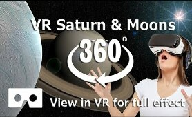 VR 360 Saturn space video in 4K for Virtual Reality