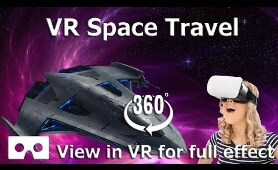 360 video Journey through space and travel the universe  in VR HD 4K