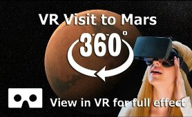360 Video - Visit to Mars Space Video in 4K for Virtual Reality