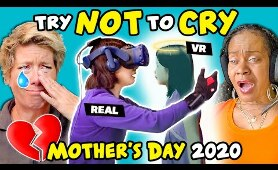 Moms React To Try Not To Cry Challenge (Mother's Day 2020)