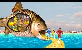 जादुई दरवाज़ा मछली  Magical Door Funny Comedy Story हिंदी कहानिय Hindi Kahaniya Story Comedy Video