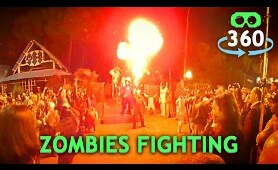 Zombies Fighting Halloween 360º Virtual Reality #360Video #VirtualReality #VR #360