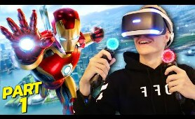BECOMING IRON MAN IN VIRTUAL REALITY | Marvel's Iron Man VR - Part 1 (PS4 Walkthrough/Gameplay)