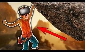 Rock Climbing in VR is TERRIFYING! (The Climb)