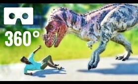 VR 360 Video Dinosaur attacks & eats Human in Jurassic Park 360° World Virtual Reality