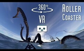 360 VR Roller Coaster: Virtual Reality scary 360 video for Cardboard & Samsung Gear VR Box