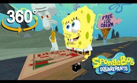 Spongebob Squarepants! - 360°  - Krusty Krab Pizza! (The First 3D VR Game Experience!)