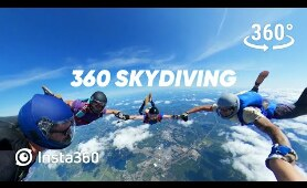 Insta360 VR: Skydiving Party in 360 Virtual Reality