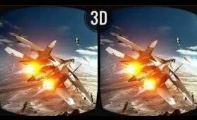 Epic Jet Mission 3D Video VR Box Split Screen