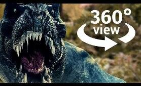 Jurassic Park T-Rex OUTBREAK in Virtual Reality 360 Video VR